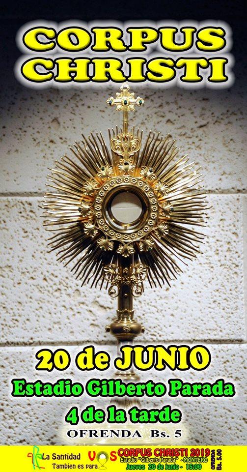 MONTERO – Preparando CORPUS CHRISTI 2019